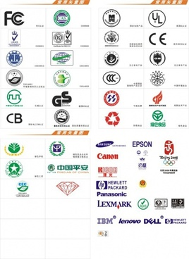 common certification marks vector