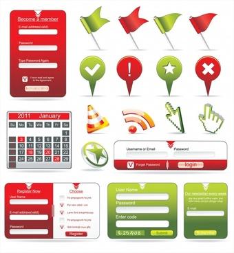 web design elements colorful modern shapes