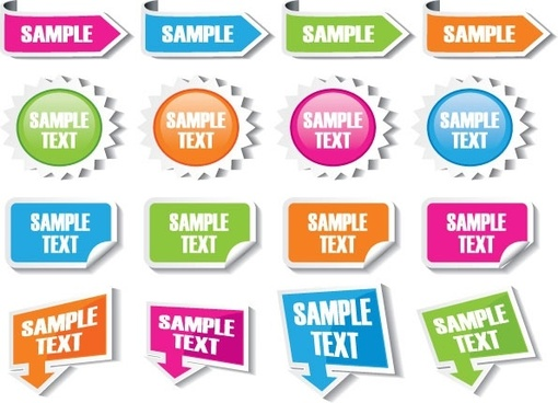 common labels 02 vector