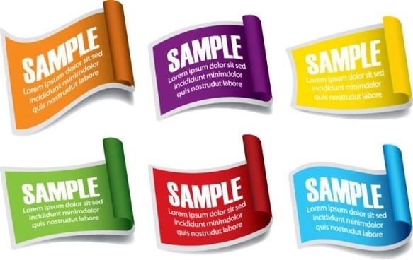 common labels 05 vector