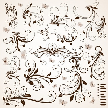 pattern decorative design elements classical curves ornament