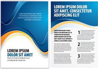 business report cover page templates free vector download 27 421