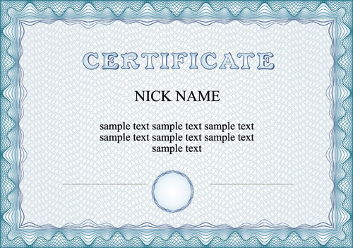 commonly certificate cover vector template