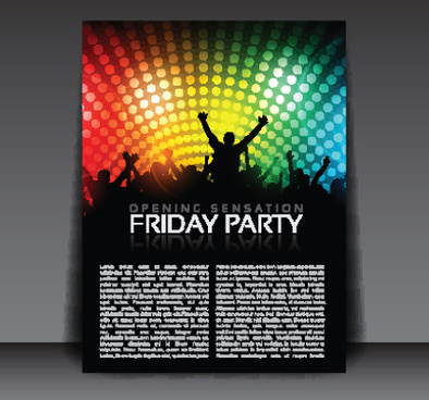 commonly party flyer cover template vector