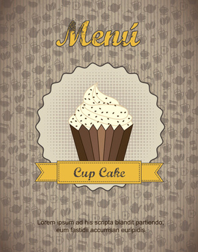 commonly restaurant menu cover template vector set