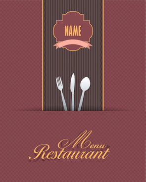 Set of cafe and restaurant menu cover template vector free vector.