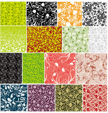 commonly used decorative pattern background vector art