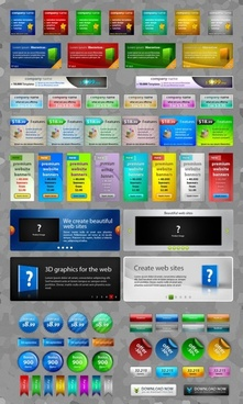 commonly used elements of web design psd layered