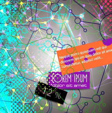 communication elements with grunge background vector