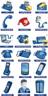 communication facilities icons vector