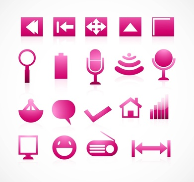 communication reflection colorful icons vector