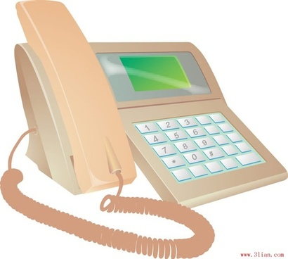 communication telephone vector