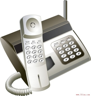 communications supplies telephone vector