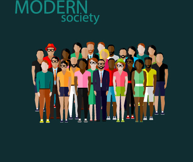 community people vector template design