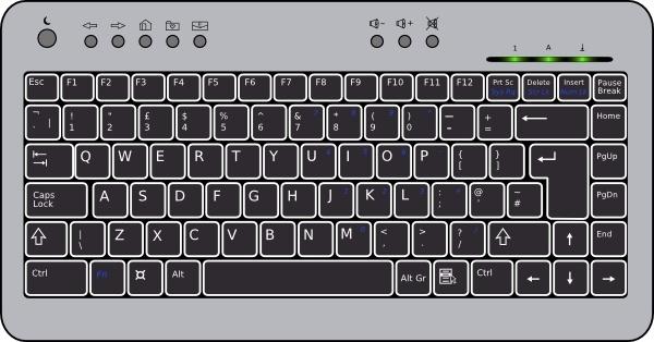 Compact Computer Keyboard clip art