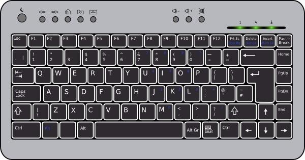 Compact Keyboard clip art