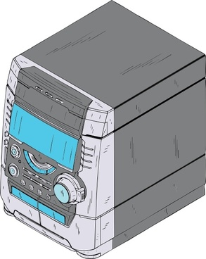 Compact Stereo clip art