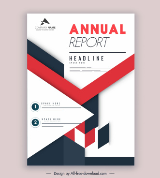 company annual report template colorful bright modern design