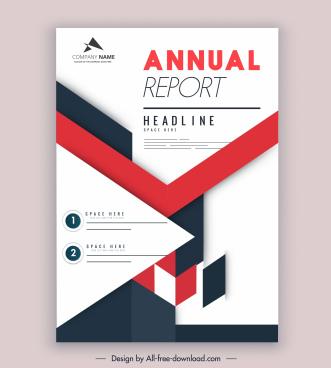 company annual report template colorful bright modern design