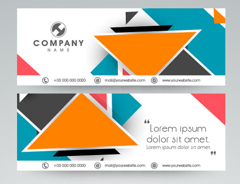 company banners modern design vector