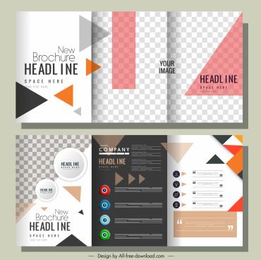 company brochure templates modern colorful checkered geometric decor