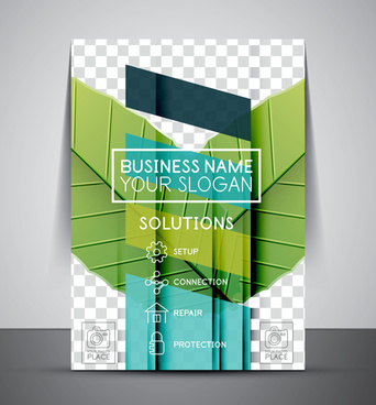 company flyer template modern vector