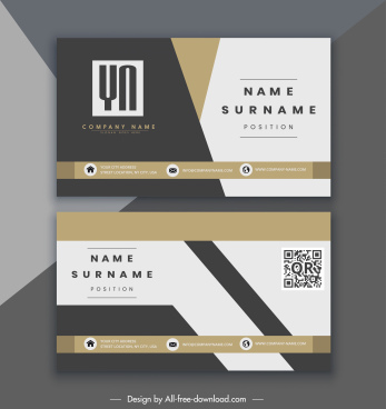 company name card elegant modern colorful decor
