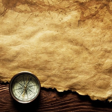 compass and old kraft paper highdefinition picture