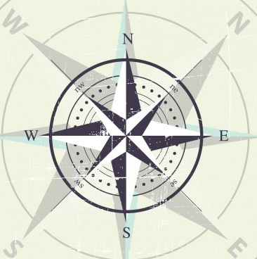 compass background classical arrow circle decor vignette design