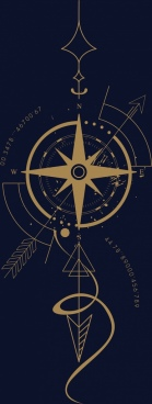 compass background closeup design yellow dark decor
