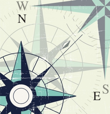 compass background closeup retro vignette design