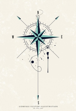 compass background flat classical design