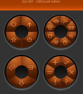 compass button to rotate the disc vector button