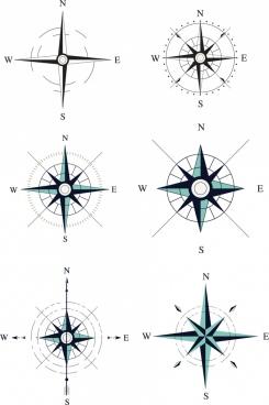 compass templates classical flat design