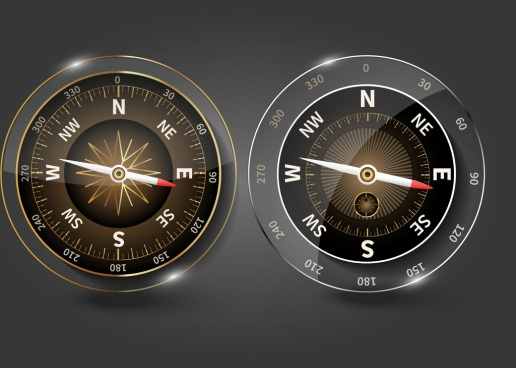 compass templates shiny modern glass design