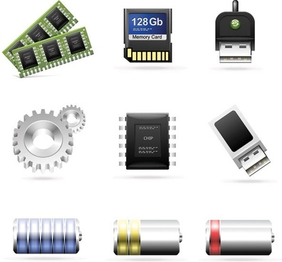 computer accessories theme icon vector