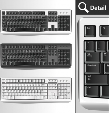 computer keyboard templates modern black white sketch