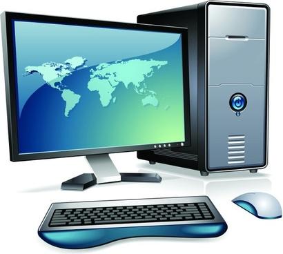 desktop computer icon 3d colored design