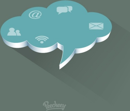 comunication cloud illustration