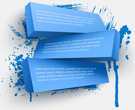 concept 3d banners vector graphics