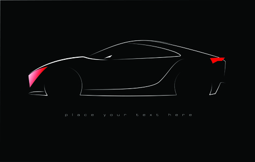 concept cars elements vector backgrounds art
