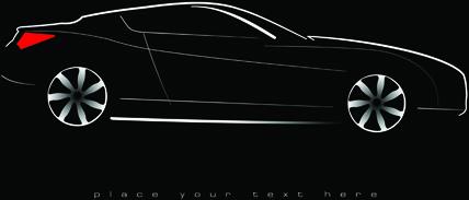 concept cars elements vector backgrounds art