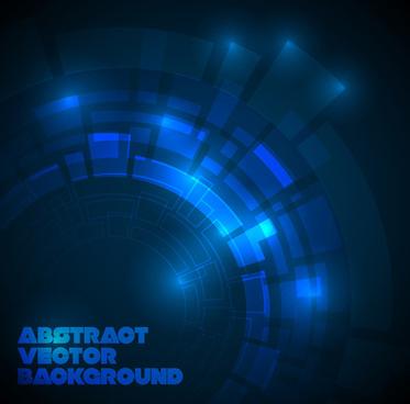 concept dark blue technical vector background