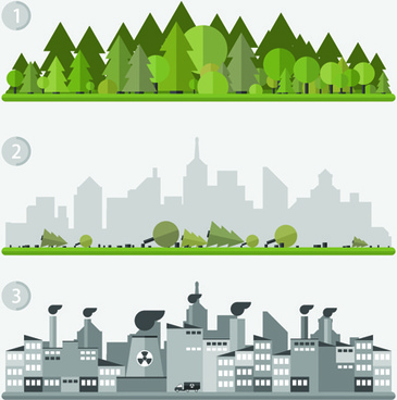 concept ecology and environment business template vector