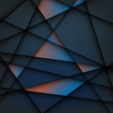 concept geometric shapes background vector