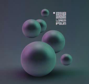concept globular background vector