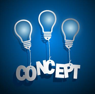 concept idea business background vector