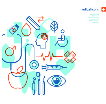 concept medical business template vector