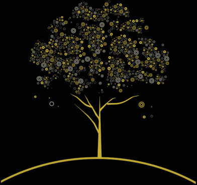 concept tree design elements vector