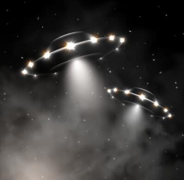 concept ufo design elements background